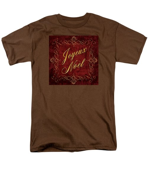 Joyeux Noel In Red And Gold Men's T-Shirt  (Regular Fit) by Caitlyn  Grasso
