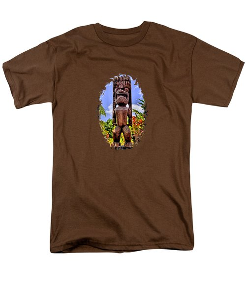 Men's T-Shirt  (Regular Fit) featuring the photograph Kaanapali Tiki by DJ Florek