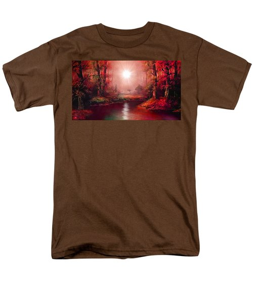 Men's T-Shirt  (Regular Fit) featuring the painting Kaleidoscope Forest by Michael Rucker