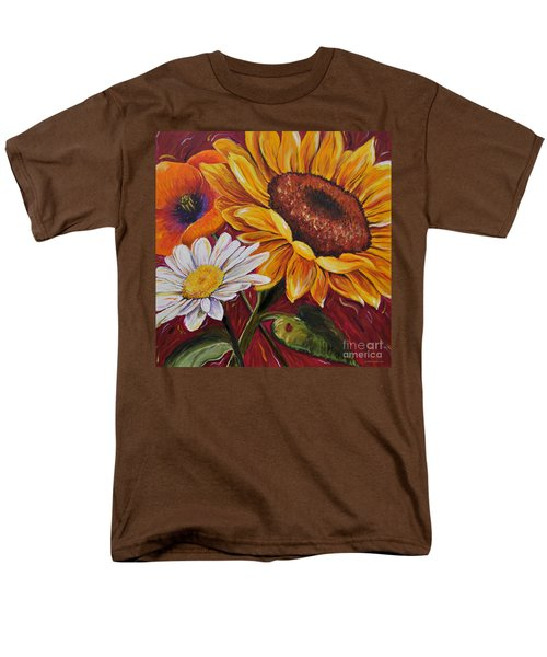 Kathrin's Flowers Men's T-Shirt  (Regular Fit) by Lisa Fiedler Jaworski