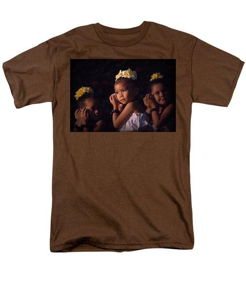 Men's T-Shirt  (Regular Fit) featuring the photograph Keiki Conch Shell Hula by Lori Seaman