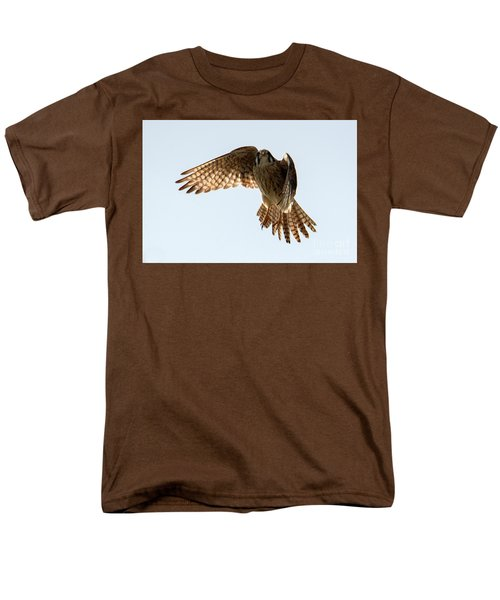 Men's T-Shirt  (Regular Fit) featuring the photograph Kestrel Hover by Mike Dawson