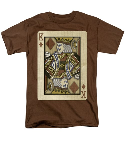 King Of Diamonds In Wood Men's T-Shirt  (Regular Fit) by YoPedro