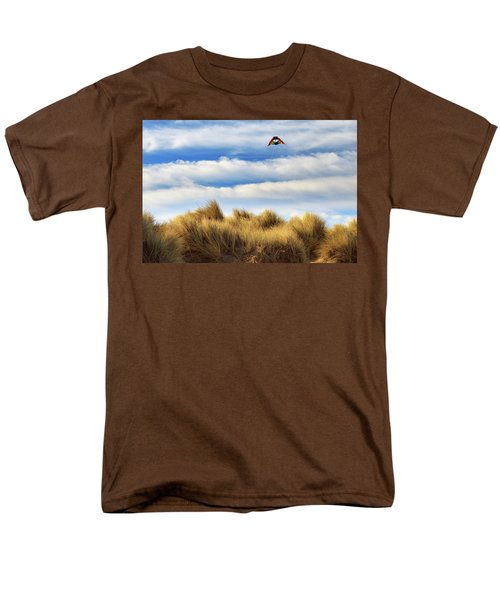 Men's T-Shirt  (Regular Fit) featuring the photograph Kite Over The Hill by James Eddy