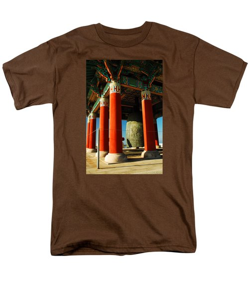 Men's T-Shirt  (Regular Fit) featuring the photograph Korean Peace Bell San Pedro by James Kirkikis