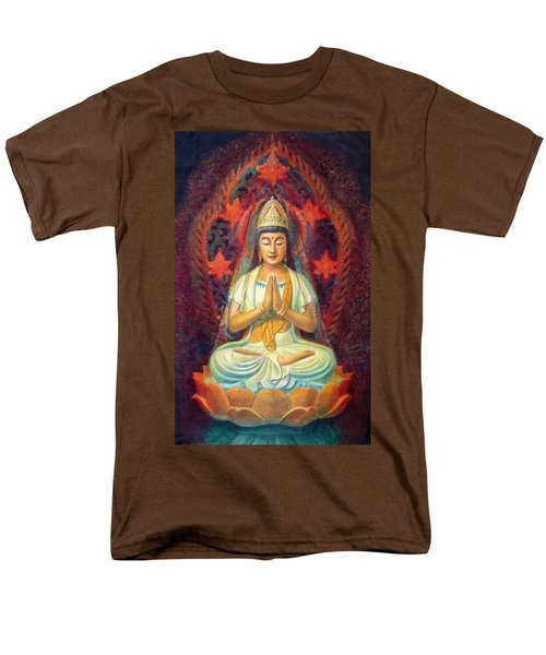 Kuan Yin's Prayer Men's T-Shirt  (Regular Fit) by Sue Halstenberg