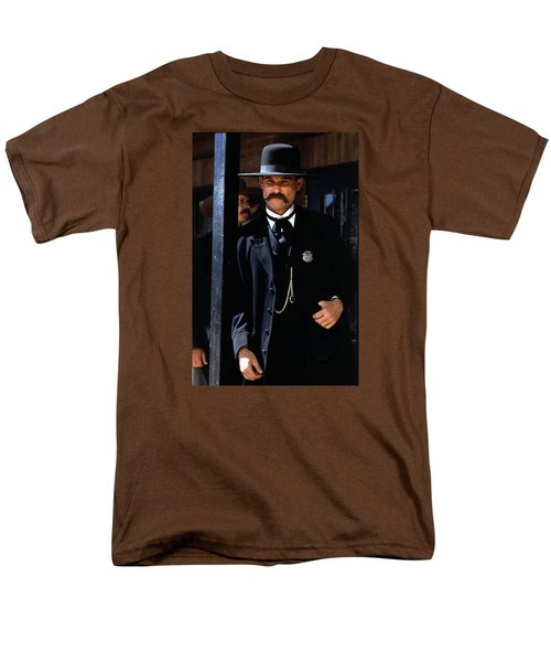 Kurt Russell As Wyatt Earp Tombstone Arizona 1993-2015 Men's T-Shirt  (Regular Fit) by David Lee Guss