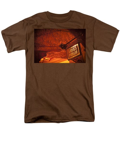 Men's T-Shirt  (Regular Fit) featuring the photograph Ladies Parlor Sign by Carolyn Marshall