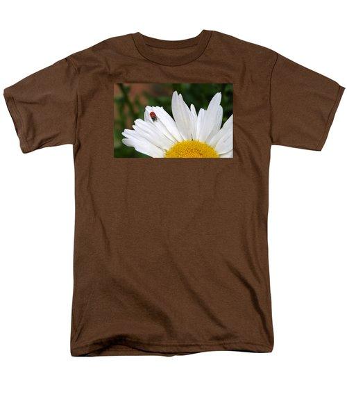 Ladybug On Flower Men's T-Shirt  (Regular Fit)