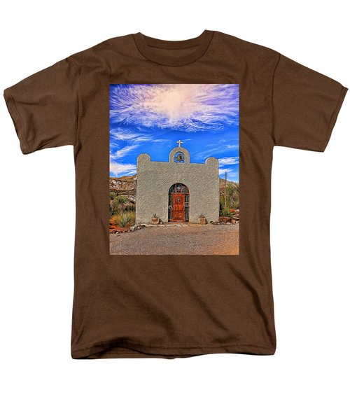 Lajitas Chapel Painted Men's T-Shirt  (Regular Fit) by Judy Vincent