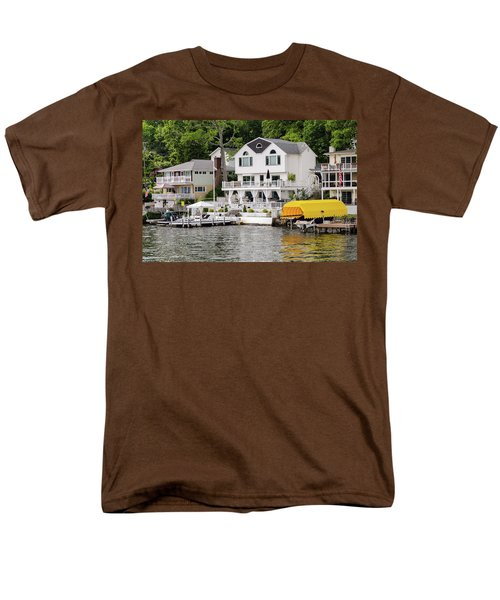 Men's T-Shirt  (Regular Fit) featuring the photograph Lakefront Living Hopatcong by Maureen E Ritter