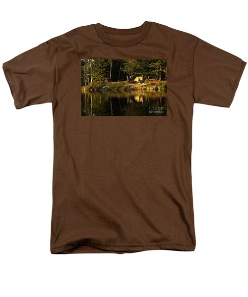 Men's T-Shirt  (Regular Fit) featuring the photograph Lakeside Campsite by Larry Ricker