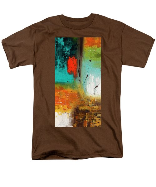 Men's T-Shirt  (Regular Fit) featuring the painting Landmarks by Carmen Guedez