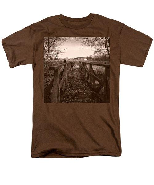 #landscape #bridge #family #tree Men's T-Shirt  (Regular Fit) by Mandy Tabatt