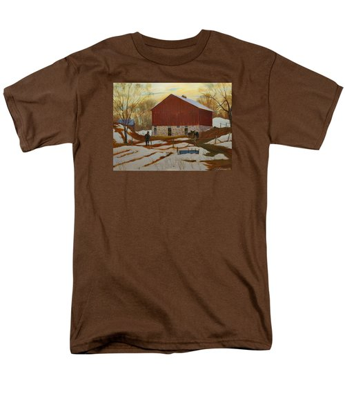Late Winter At The Farm Men's T-Shirt  (Regular Fit) by David Gilmore