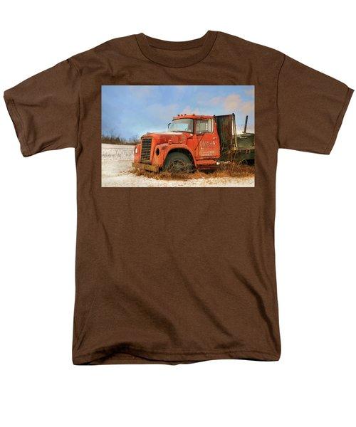 Men's T-Shirt  (Regular Fit) featuring the photograph Latsha Lumber Truck by Lori Deiter