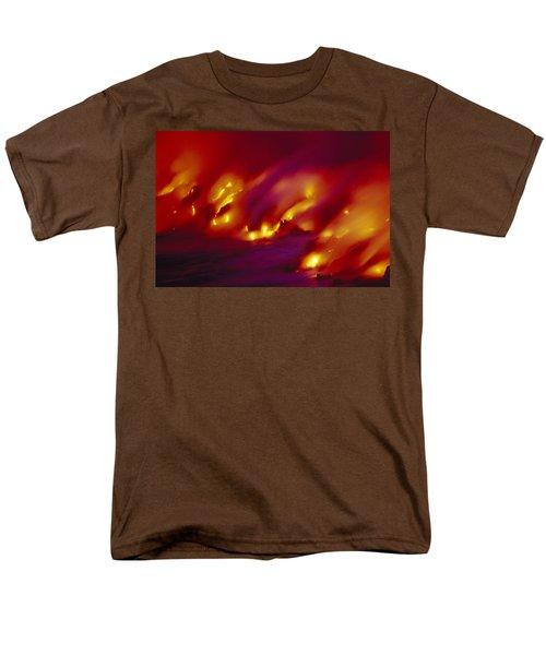Lava Up Close Men's T-Shirt  (Regular Fit) by Ron Dahlquist - Printscapes