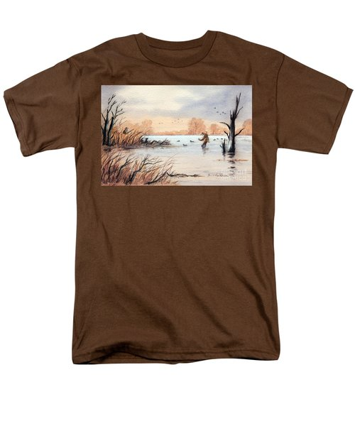 Laying Out The Decoys I Men's T-Shirt  (Regular Fit) by Bill Holkham