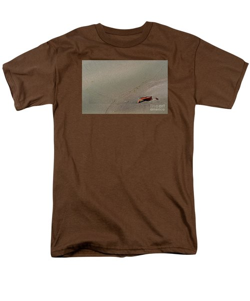 Men's T-Shirt  (Regular Fit) featuring the photograph Leafe On The Beach by Gary Bridger