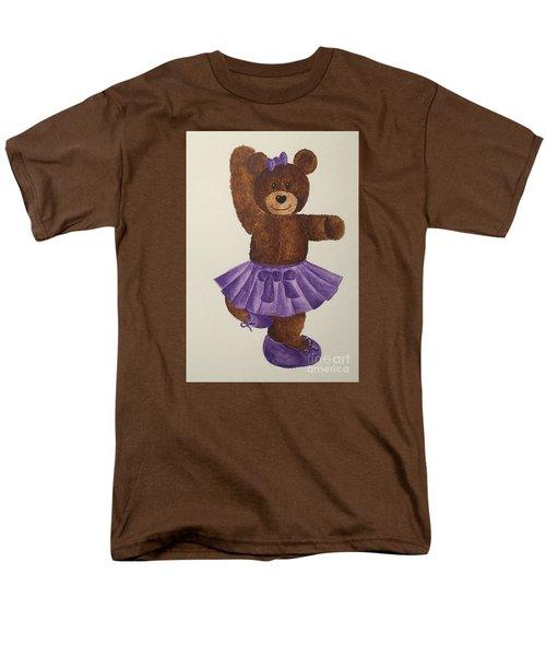 Men's T-Shirt  (Regular Fit) featuring the painting Leah's Ballerina Bear 2 by Tamir Barkan