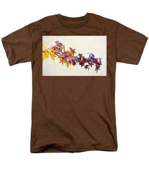Men's T-Shirt  (Regular Fit) featuring the photograph Leaves Of Many Colors by AJ Schibig