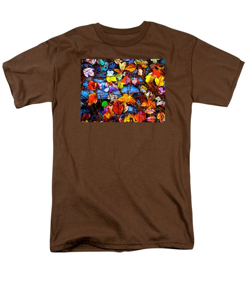 Leaves Of Colors  Men's T-Shirt  (Regular Fit) by Cathy Dee Janes