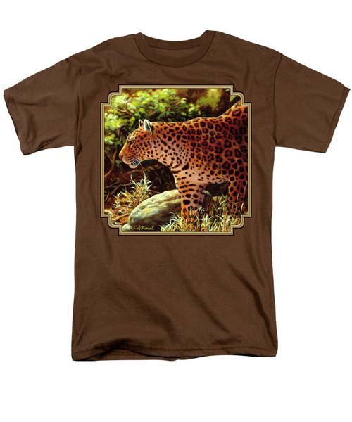 Leopard Painting - On The Prowl Men's T-Shirt  (Regular Fit) by Crista Forest
