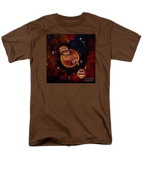 Men's T-Shirt  (Regular Fit) featuring the painting Life Time Machine by Alexa Szlavics