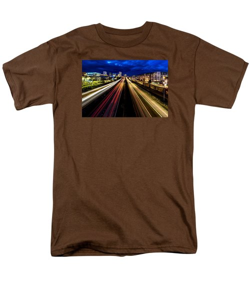 Men's T-Shirt  (Regular Fit) featuring the photograph Light Streaks On 705 by Rob Green
