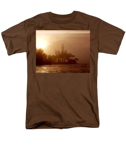 Lighthouse Point Sunrise Men's T-Shirt  (Regular Fit) by Brent L Ander