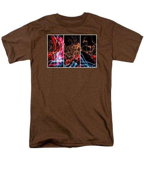 Lightpainting Triptych Wall Art Print Photograph 5 Men's T-Shirt  (Regular Fit) by John Williams
