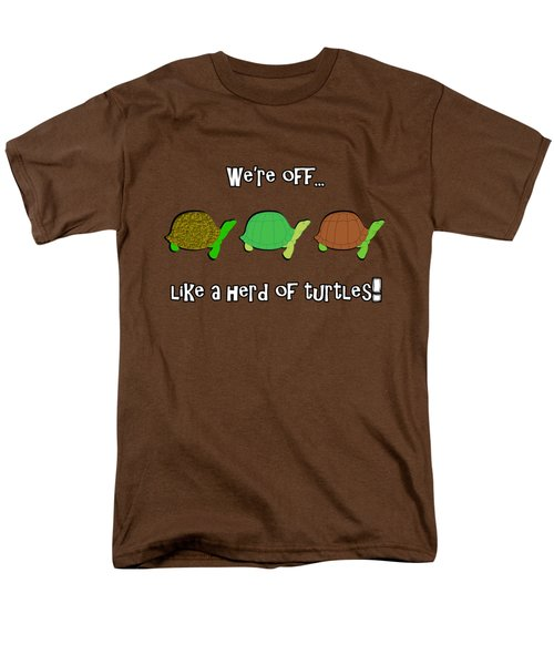 Like A Herd Of Turtles Men's T-Shirt  (Regular Fit) by Methune Hively