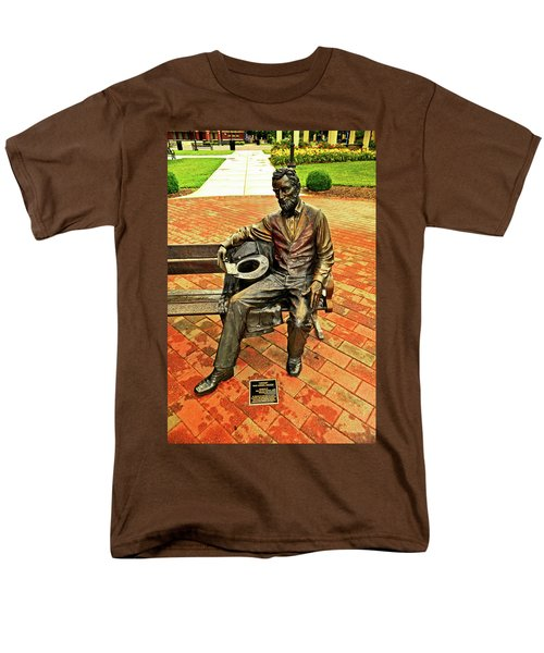 Men's T-Shirt  (Regular Fit) featuring the photograph Lincoln Library Statue 004 by George Bostian