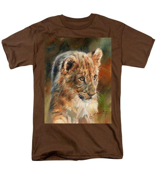 Lion Cub Portrait Men's T-Shirt  (Regular Fit) by David Stribbling