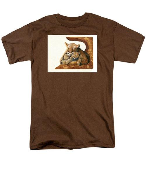 Lion - Protect Our Children Painting Men's T-Shirt  (Regular Fit)