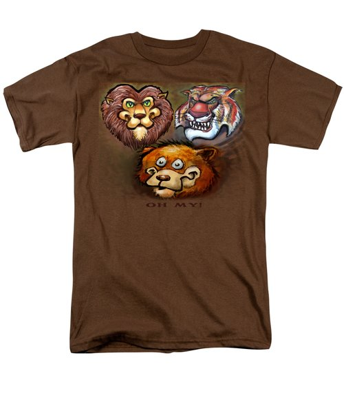 Lions And Tigers And Bears Oh My Men's T-Shirt  (Regular Fit) by Kevin Middleton