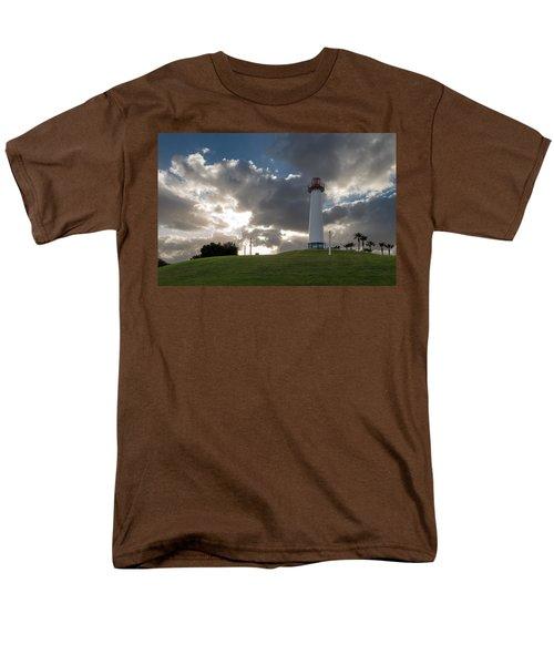 Lion's Lighthouse For Sight - 2 Men's T-Shirt  (Regular Fit) by Ed Clark