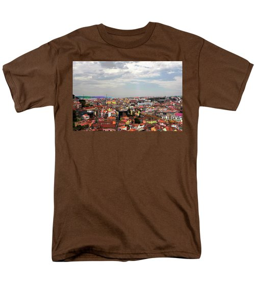 Men's T-Shirt  (Regular Fit) featuring the photograph Lisbon's Chaos Of Color by Lorraine Devon Wilke