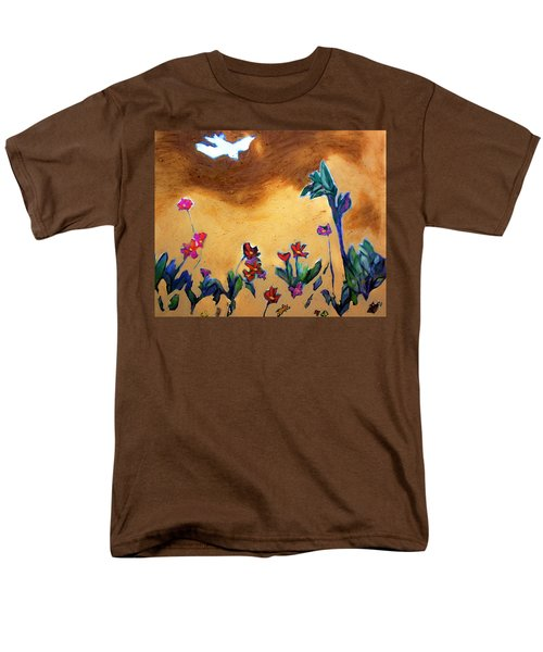Men's T-Shirt  (Regular Fit) featuring the painting Living Earth by Winsome Gunning