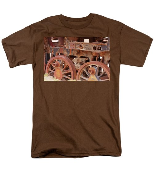 Men's T-Shirt  (Regular Fit) featuring the photograph Locomotive In The Desert by Aidan Moran