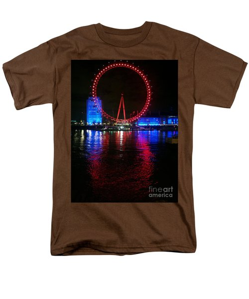 Men's T-Shirt  (Regular Fit) featuring the photograph London Eye At Night by Hanza Turgul