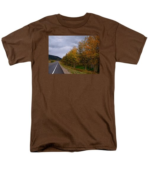 Men's T-Shirt  (Regular Fit) featuring the photograph Long Lonesome Hiway by Laura Ragland