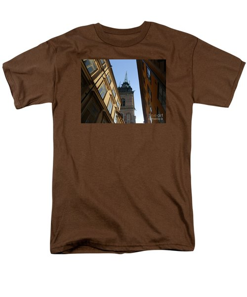 Looking Up From A Stockholm Street Men's T-Shirt  (Regular Fit) by Margaret Brooks