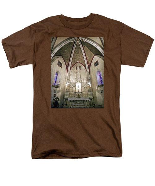 Men's T-Shirt  (Regular Fit) featuring the photograph Loretto Chapel Santa Fe by Kurt Van Wagner