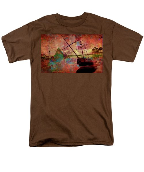 Men's T-Shirt  (Regular Fit) featuring the digital art Lost Island by Greg Sharpe