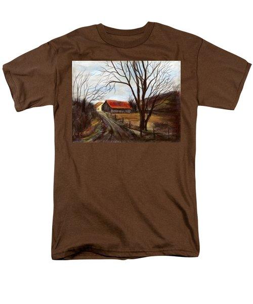 Men's T-Shirt  (Regular Fit) featuring the painting Louisa Kentucky Barn by Gail Kirtz