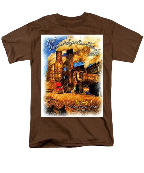 Louisiana Sugar Cane Poster 2012 Men's T-Shirt  (Regular Fit) by Ronald Olivier
