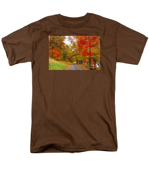 Men's T-Shirt  (Regular Fit) featuring the photograph Lower Lake Loop Trail by Barbara Bowen