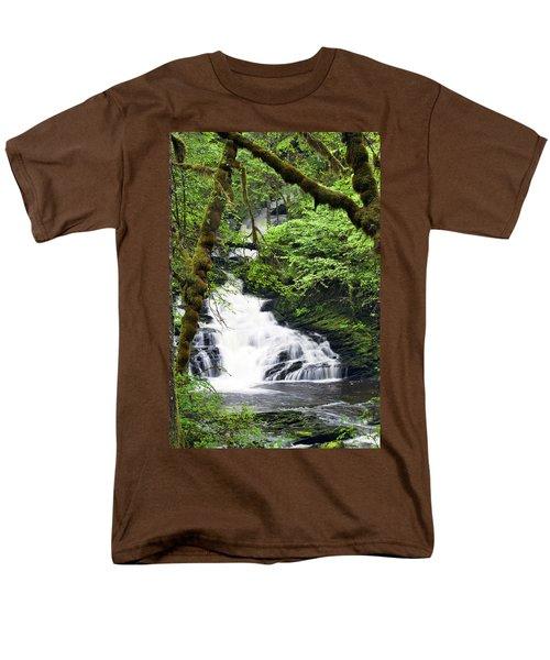 Lower Lunch Creek Falls Men's T-Shirt  (Regular Fit)