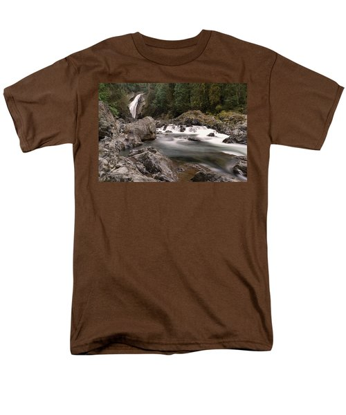Men's T-Shirt  (Regular Fit) featuring the photograph Lower Twin Falls by Jeff Swan